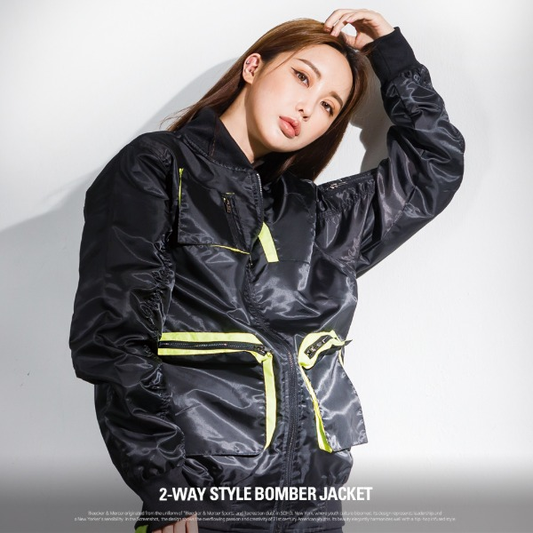 [S51053] 2WAY STYLE BOMBER JACKET