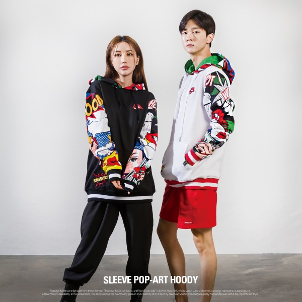 [H11062] SLEEVE POP-ART HOODY