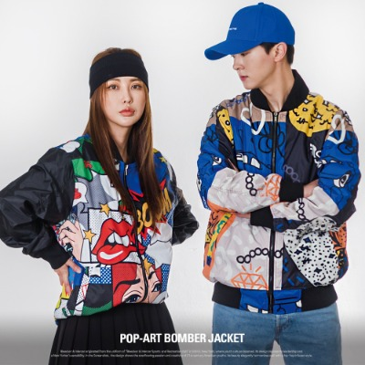 [S51050] POP-ART BOMBER JACKET