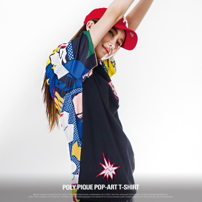 [S11062] POLY PIQUE POP-ART T-SHIRT