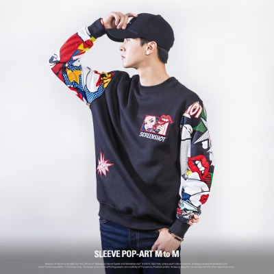 [F11062] SLEEVE POP-ART M to M