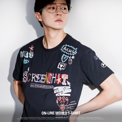 [S11053] ON-LINE WORLD T-SHIRT