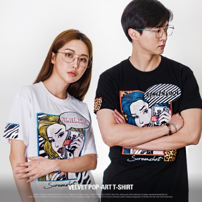 [S11057] VELVET POP ART T-SHIRT